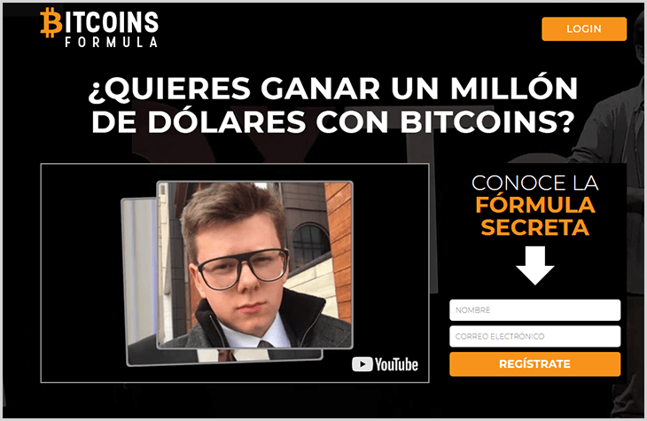 página web del software Bitcoins Formula