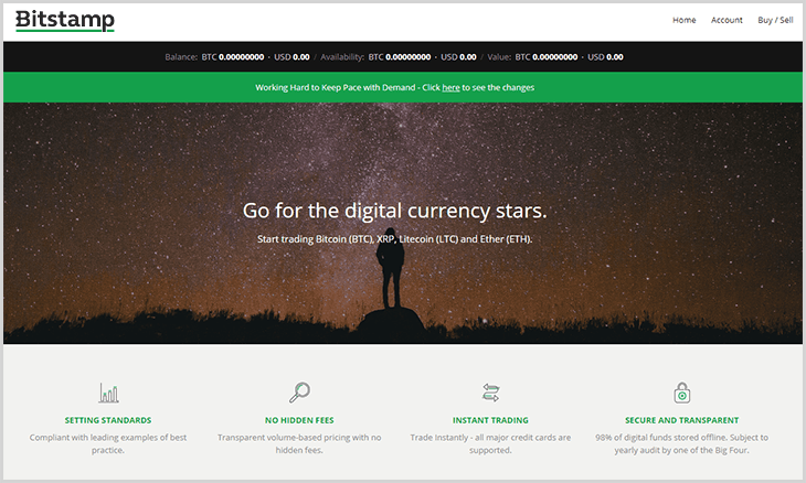 exchange de bitcoin Bitstamp