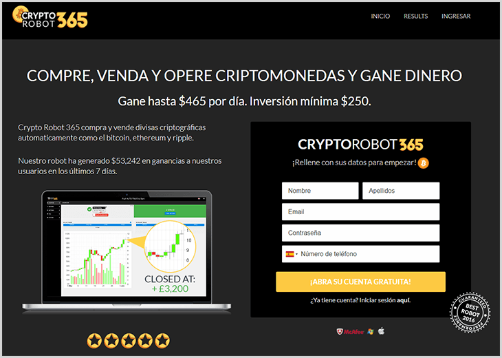 review completa de la estafa CryptoRobot365