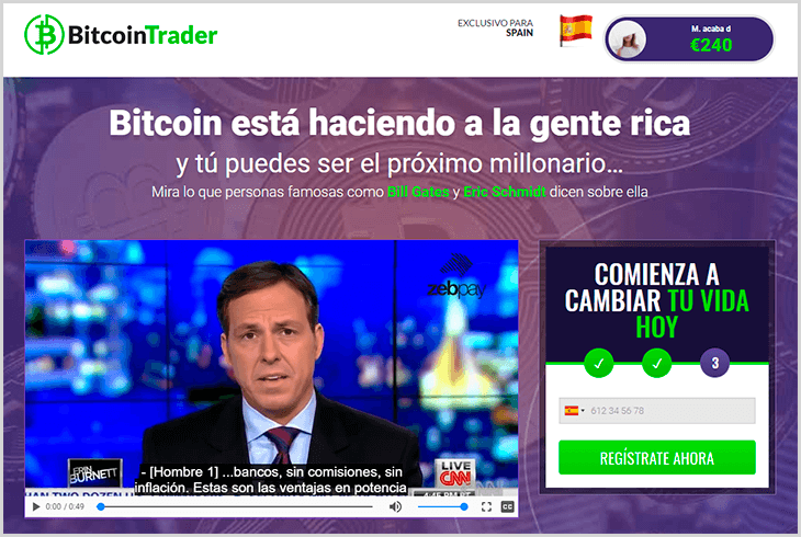 review del software en español Bitcoin Trader