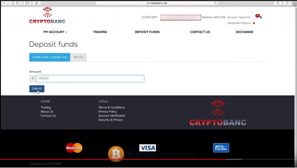 Depósito en plataforma bitcoin bonanza