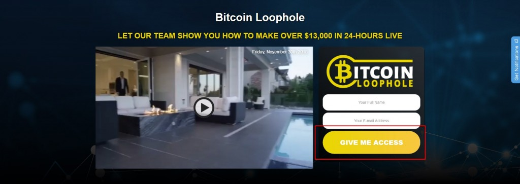 bitcoin loophole registro
