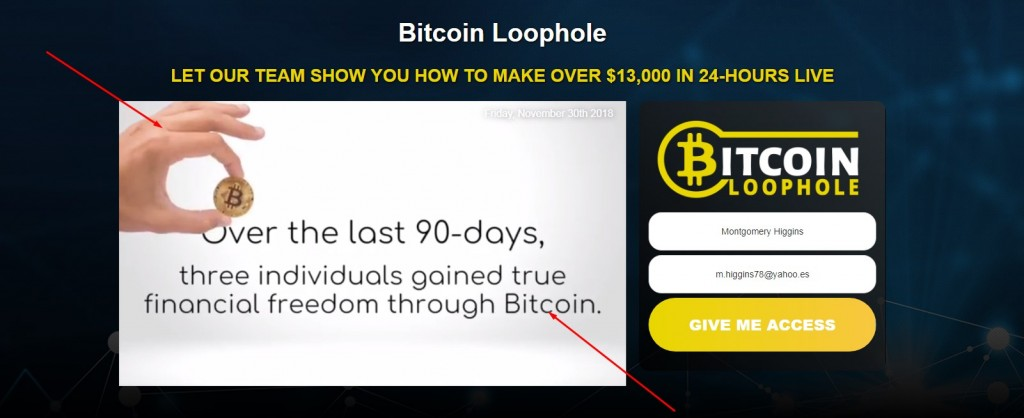 bitcoin loophole video home