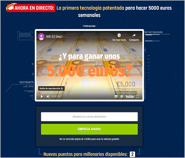 este software es una estafa 50k a week
