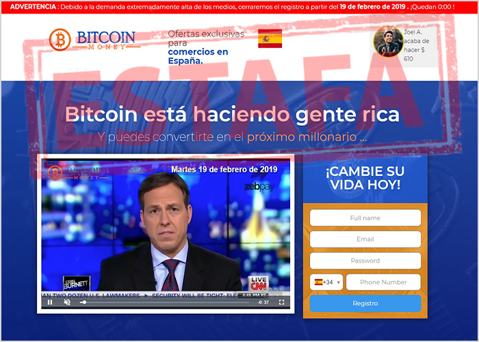 sitio web de BitcoinMoney