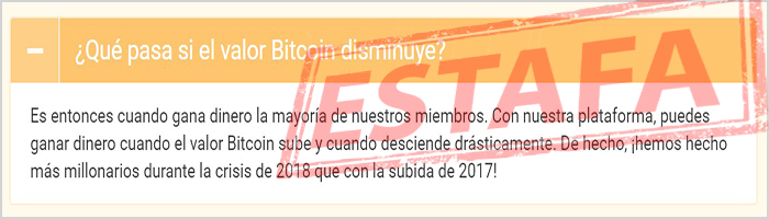 The Bitcoin Time se creó en 2017 y es un fraude