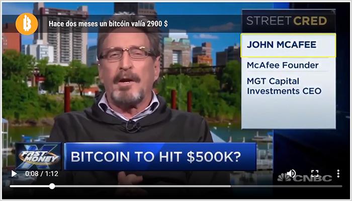 Bitcoin Time utiliza el nombre de john mcafee para su estafa