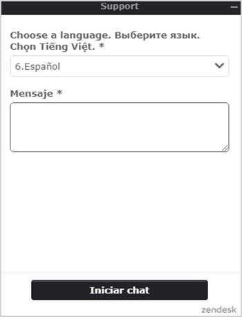 Chat en vivo de Binomo para cuando necesitemos ayuda