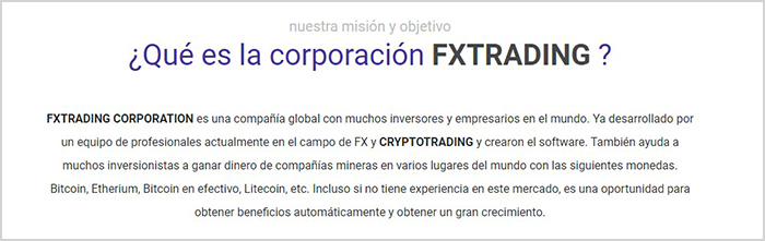 Review sobre fx trading corporation y como funciona