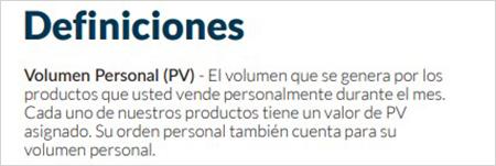 Cada producto de la app Kuvera tiene un PV con valor