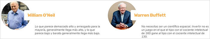 William O'Neil y Warren Buffett no están dando su opinión sobre el fraudulento scam