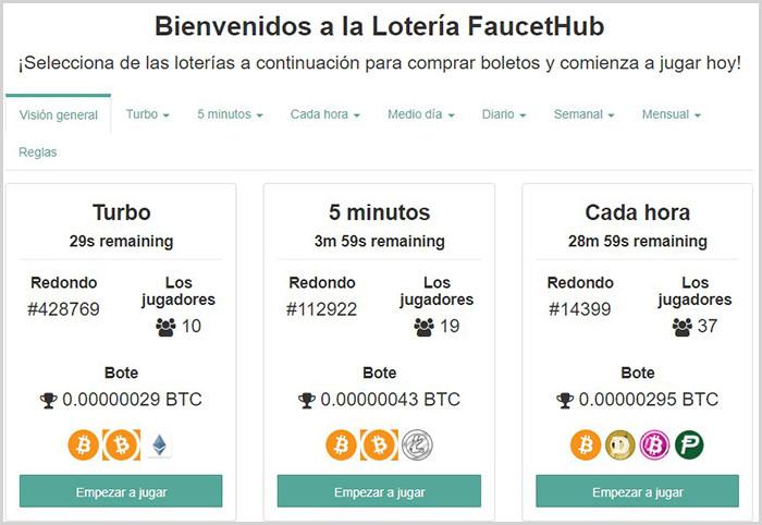 Obtén beneficios extras con la lotería de FaucetHub