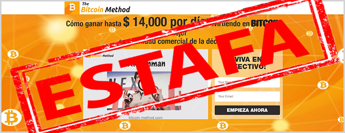 Review con opiniones sobre la app fraudulenta Bitcoin Method