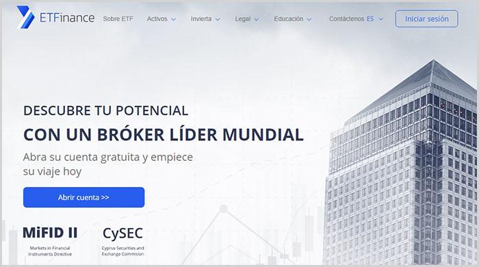 ETFinance es una plataforma segura en la que podemos operar con brokers regulados