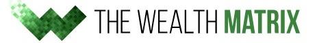 Review con logo sobre la app fraudulenta The Wealth Matrix