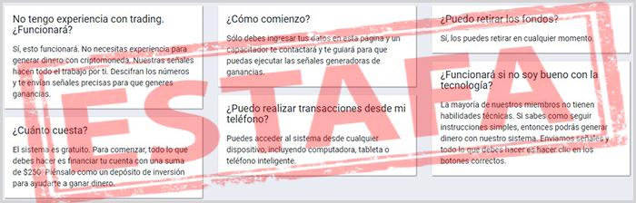Review con opiniones en español sobre el software fraudulento