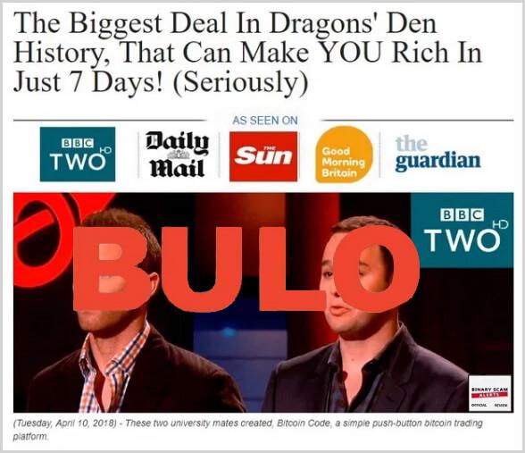 Dragon's den no tiene ninguna relación con la estafa