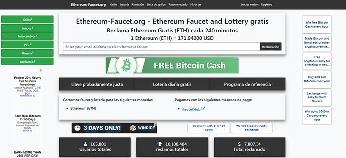 Gana Ethereum gratis con ethereum-faucet.org