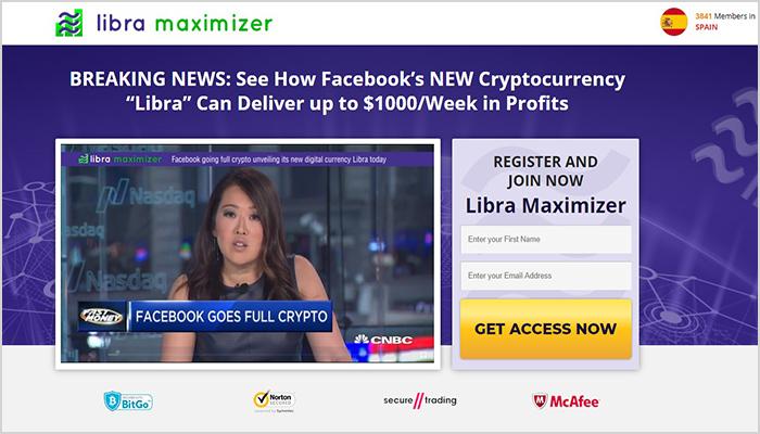 pagina web de la app libra maximizer