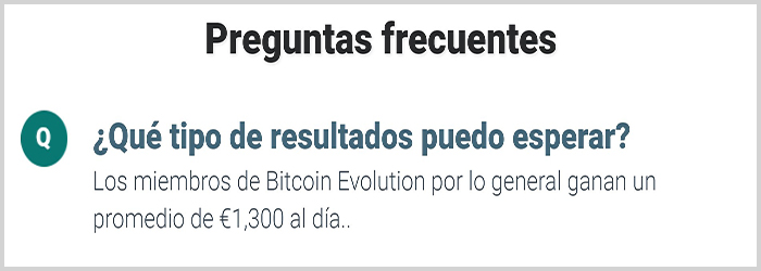 Flasas ganancias con Bitcoin Evolution