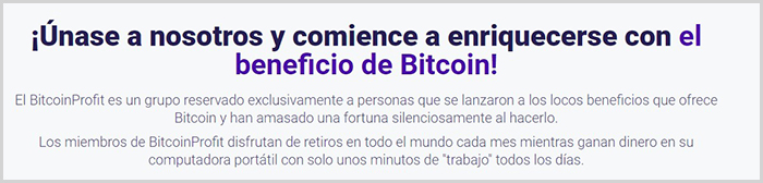 Review sobre la estafa de la app Bitcoin Profit