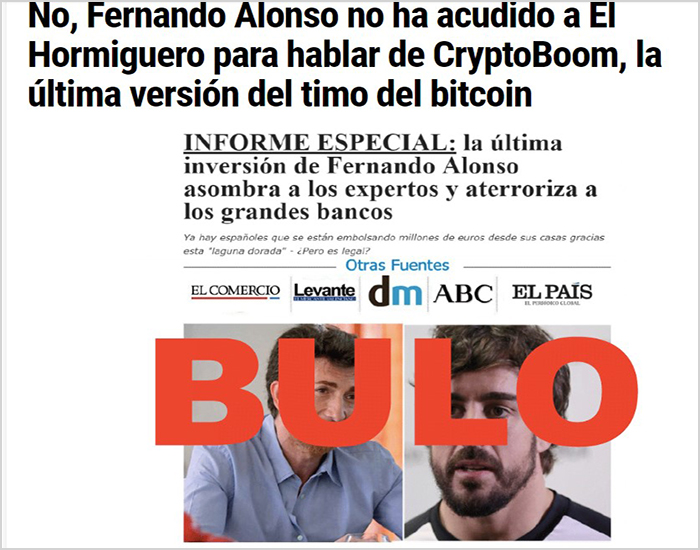 fernando alonso no invierte en bitcoin revolution